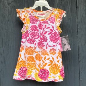 Flapdoodles Ombre Print Toddler Girl Dress 2T